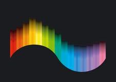 Curva del color Foto de archivo libre de regalías