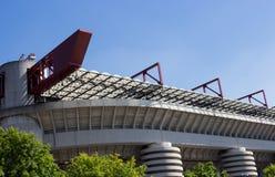 Curva del estadio del meazza de San Siro Fotos de archivo libres de regalías