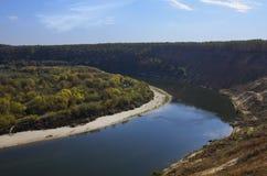 Curva del río Fotografía de archivo libre de regalías