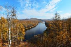 Curva del río Fotografía de archivo