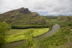 Curva del río Imagenes de archivo
