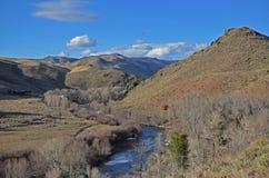 Curva del río Imagen de archivo libre de regalías