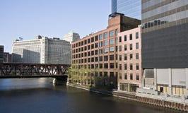 Curva del río de Chicago imágenes de archivo libres de regalías
