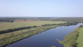 Curva del río occidental de Dvina almacen de metraje de vídeo
