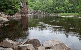 Curva del St Croix River Foto de archivo libre de regalías