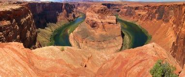 Curva del zapato del caballo de Colorado Fotos de archivo