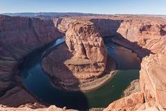 Curva del zapato del caballo del río Colorado Fotos de archivo libres de regalías