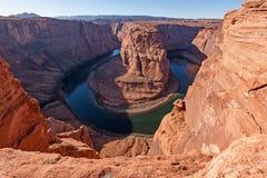 Curva del zapato del caballo del río Colorado Imágenes de archivo libres de regalías