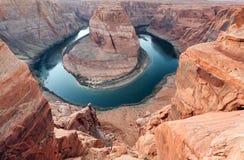 Curva del zapato del caballo del río Colorado Foto de archivo libre de regalías