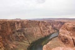 Curva del zapato del caballo, el río Colorado fotografía de archivo libre de regalías