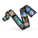 Curva della pellicola con le foto Fotografia Stock