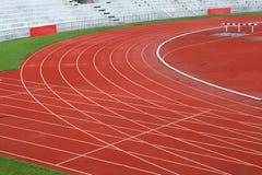 Curva della pista di corsa Immagine Stock Libera da Diritti