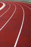 Curva della pista di corsa Immagini Stock Libere da Diritti