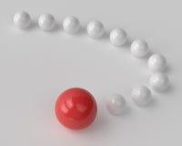 Curva delle palle lucide Immagine Stock Libera da Diritti