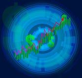 Curva di accrescimento finanziaria Fotografie Stock Libere da Diritti