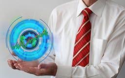 Curva di accrescimento futuristica Immagini Stock