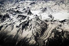 Curva di Snowy Fotografia Stock Libera da Diritti