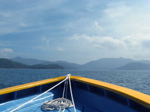 Curva do barco com corda Fotografia de Stock