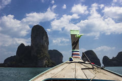 Curva do barco do longtail Imagem de Stock Royalty Free