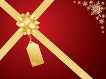 Curva do Natal e cartão do presente ilustração stock