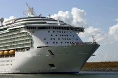 Curva do navio de cruzeiros Imagem de Stock