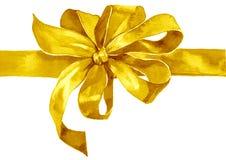 Curva do ouro amarelo do feriado da aquarela Fotos de Stock Royalty Free