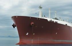 Curva do petroleiro do gás Fotos de Stock