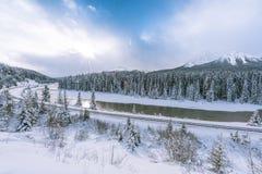 Curva do ` s de Morant em rochoso canadense Imagem de Stock