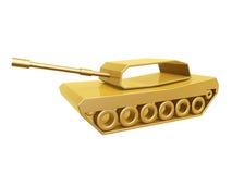 Curva dorata del carro armato Fotografia Stock Libera da Diritti