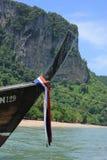 curva dos barcos do longtail Imagens de Stock Royalty Free