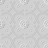 curva Dot Line Frame Flower da arte do Livro 3D Branco Foto de Stock