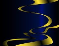 Curva dourada Fotografia de Stock
