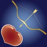 Curva e coração Foto de Stock Royalty Free