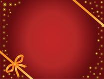 Curva e estrelas do ouro Imagens de Stock Royalty Free