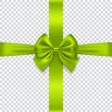 Curva e fita verdes no fundo transparente Imagem de Stock