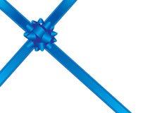 Curva e fitas azuis ilustração royalty free