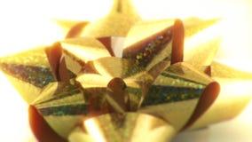 Curva efervescente dourada do presente video estoque