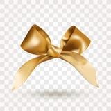 Curva elegante dourada do cetim com o n? isolado no fundo transparente Ilustra??o real?stica do vetor Elemento para o projeto foto de stock royalty free