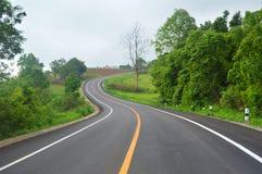 Curva en el camino Imagen de archivo libre de regalías