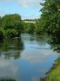 Curva en el río Foto de archivo