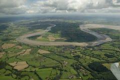Curva en el río siete, Reino Unido Fotografía de archivo