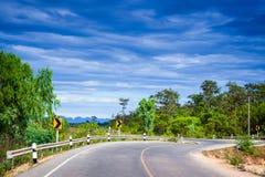Curva a estrada Fotografia de Stock