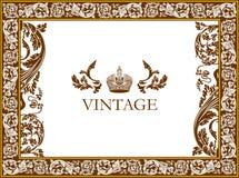 Curva a estrutura gótico vegetative Foto de Stock Royalty Free