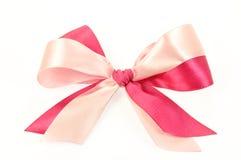 Curva feita de fitas cor-de-rosa Imagens de Stock Royalty Free