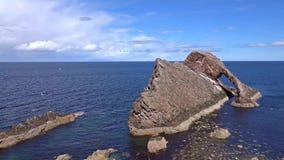Curva Fiddle Rock, Portknockie, Escócia filme