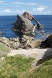 Curva Fiddle Rock Scotland Imagem de Stock