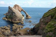 Curva Fiddle Rock Scotland Fotografia de Stock Royalty Free