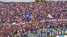 Curva Fiesole, Italian Hooligans, Florence, Italy Stock Photo