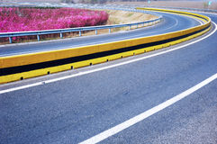Curva na estrada Imagens de Stock Royalty Free