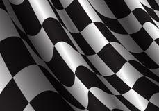 Curva a quadretti dell'onda della bandiera per il vettore del fondo di successo di affari di campionato della corsa di sport Immagine Stock